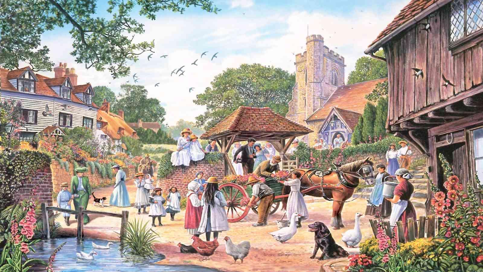 Un mondo più equo, immagine di un villaggio felice
